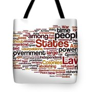The Declaration Of Independence Tote Bag by Florian Rodarte
