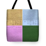 The Declaration Of Independence In Colors Tote Bag by Rob Hans