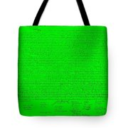 The Declaration Of Independence In Green Tote Bag