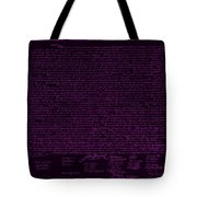 The Declaration Of Independence In Negative Purple Tote Bag