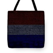 The Declaration Of Independence In Negative R W B 1 Tote Bag