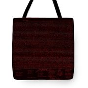 The Declaration Of Independence In Negative Red Tote Bag