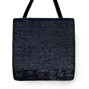 The Declaration Of Independence In Negative  Tote Bag