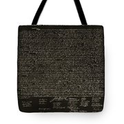 The Declaration Of Independence In Negative Sepia Tote Bag by Rob Hans