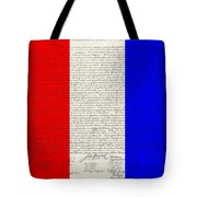 The Declaration Of Independence In Red White Blue Tote Bag by Rob Hans