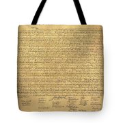 The Declaration Of Independence In Sepia Tote Bag