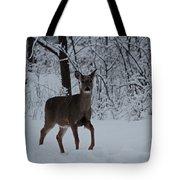 The Deer In The Snow Tote Bag