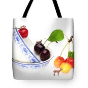 The Deers Among Cherries And Blue-and-white China Miniature Art Tote Bag
