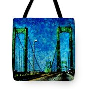 The Delaware Memorial Bridge Tote Bag by Angelina Vick
