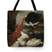 The Descent Of The Swan, Illustration Tote Bag