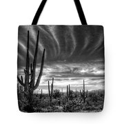 The Desert In Black And White Tote Bag