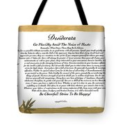 The Desiderata Poem Surrounded By Tropical Bamboo Tote Bag