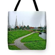 The Dike In Enkhuizen-netherlands Tote Bag