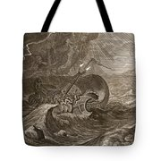 The Dioscuri Protect A Ship, 1731 Tote Bag by Bernard Picart