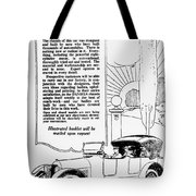 The Distinguished Car Of  1916 Tote Bag