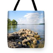 The Dnieper River In Kiev Tote Bag