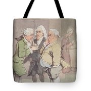 The Doctors Consultation, 1815-1820 Pen And Ink And Wc Over Graphite On Paper Tote Bag