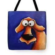 The Dog And The Caterpillar Tote Bag
