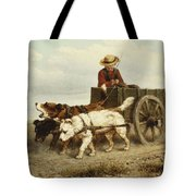 The Dog Cart Tote Bag by Henriette Ronner-Knip