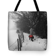 The Dog In The Red Coat Tote Bag