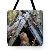 The Dog In The Teepee Tote Bag