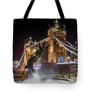 The Dolphin And The Girl Tote Bag