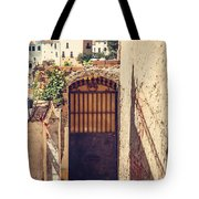 The Door With Overview Of Ronda Tote Bag