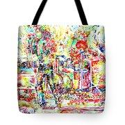 The Doors Live Concert Portrait Tote Bag