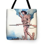 The Doughboy Stands Tote Bag by Katherine Miller