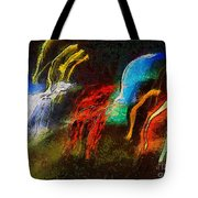 The Dragons Of Desire Tote Bag