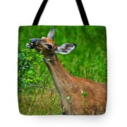 The Dreaded Deer Giraffe Tote Bag