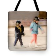 The Dreams Of Little Skaters  Tote Bag