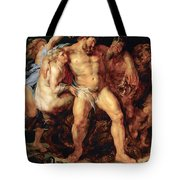 The Drunken Hercules Tote Bag