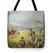 The Duel  Fair Play Tote Bag by Robert Alexander Hillingford