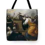 The Duel Of Isabella De Carazzi And Diambra De Pottinella Tote Bag
