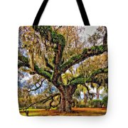 The Dueling Oak Painted Tote Bag