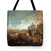 The Duke Of Wellington At La Haye Sainte. The Battle Of Waterloo Tote Bag