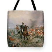 The Duke Of Wellington At Waterloo Tote Bag