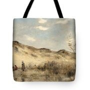 The Dunes Of Dunkirk Tote Bag by Jean Baptiste Camille Corot