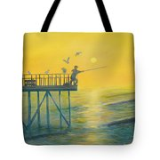 The Early Rod Takes The Cod Tote Bag