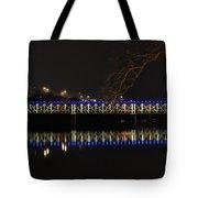 The East Falls Bridge At Night - Philadelphia Tote Bag