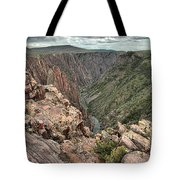 The Edge Of Back Canyon Tote Bag