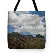 The Elephant Above El Paso Tote Bag