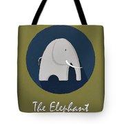 The Elephant Cute Portrait Tote Bag