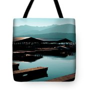 The Elkins Boathouse On Priest Lake Tote Bag