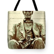 The  Emancipation Proclamation And Abraham Lincoln Tote Bag