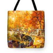 The Embassay Of Autumn - Palette Knife Oil Painting On Canvas By Leonid Afremov Tote Bag