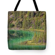 The Emerald Green Waters Of Emerald Tote Bag