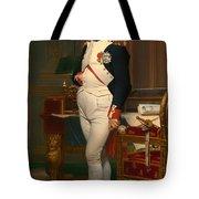 The Emperor Napoleon In His Study 1812 Tote Bag