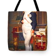 The Emperor Napoleon In His Study At The Tuileries By Jacques Louis David Tote Bag